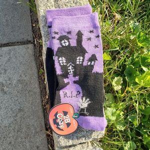 NWT $4 ADD ON Halloween Haunted House Ankle Socks